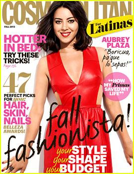 Aubrey Plaza Covers 'Cosmopolitan for Latinas' Fall 2013