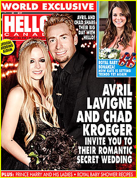 Avril Lavigne Debuts Wedding Photo to Chad Kroeger