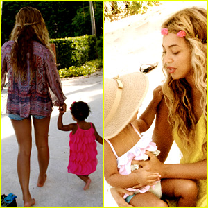 Beyonce Shares Vacation Photos with Blue Ivy & Family!