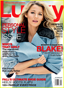 Blake Lively Covers 'Lucky' Magazine September 2013