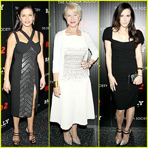 Catherine Zeta-Jones & Helen Mirren: 'Red 2' NYC Screening!