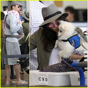 Channing Tatum & Jenna Dewan-Tatum: LAX with Baby Everly!
