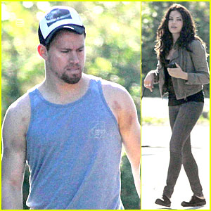 Channing Tatum Visits Jenna Dewan on 'Witches of East End' Set!
