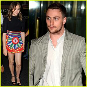 Chloe Moretz & Aaron Taylor-Johnson: 'Kick-Ass 2' Promo Work!