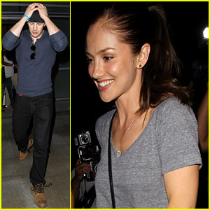 Chris Evans & Minka Kelly Leave Beyonce's L.A. Concert!