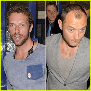 Chris Martin & Jude Law: 'Curious Incident of the Dog in the Night' Play-Goers!