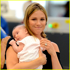 Danneel Ackles Debuts Baby Justice Jay at the Airport!
