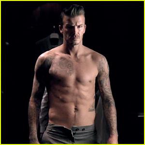 David Beckham: Shirtless in New Fragrance Commercial!