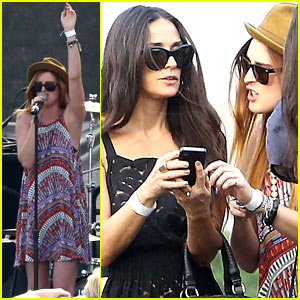 Demi Moore Supports Rumer Willis at The Lot Party L.A. Show!