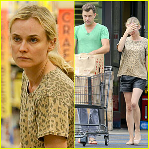 Diane Kruger & Joshua Jackson: White Wine & Fruit Shoppers!