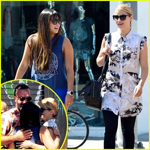 Dianna Agron & Jenna Ushkowitz Reunite After Cory Monteith's Death