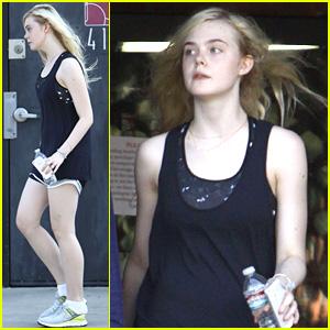 Elle Fanning: Dance Studio Workout!