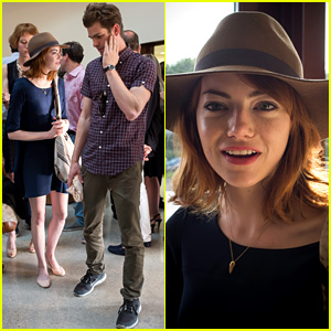 Emma Stone & Andrew Garfield: Woody Allen Concert in France!