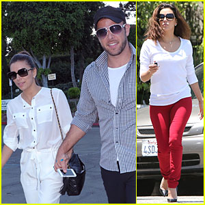 Eva Longoria & Ernesto Arguello Holding Hands at Cafe Med!