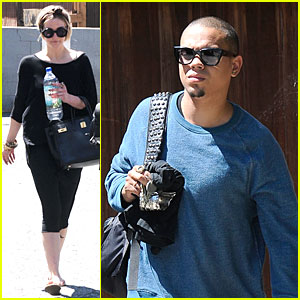 Evan Ross Camouflages Ashlee Simpson's House!