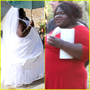 Gabourey Sidibe Wears Bridal Gown to Jimmy Kimmel's Wedding