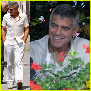 George Clooney Seen Smiling After Stacy Keibler Split