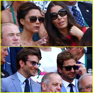 Gerard Butler & Bradley Cooper: Wimbledon Watchers!
