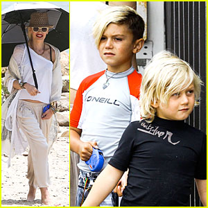 Gwen Stefani: Malibu Beach Mama with Kingston & Zuma!