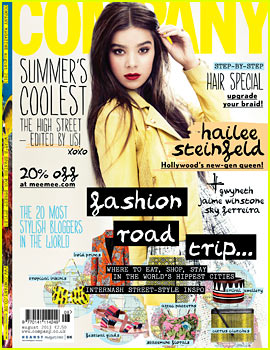 Hailee Steinfeld Covers 'Company' August 2013