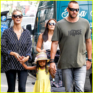 Heidi Klum & Martin Kirsten: 'Spider-Man' on Broadway with the Kids!
