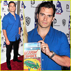 Henry Cavill: Superman 75 Party at Comic-Con!