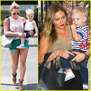 Hilary Duff Targets Pacifier Loving Luca!