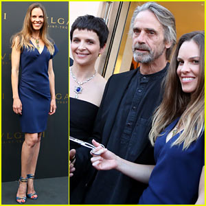 Hilary Swank: Bulgari Boutique Opening in Saint-Tropez!