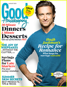 Hugh Jackman Covers 'Good Housekeeping' August 2013