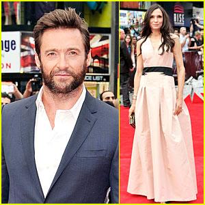 Hugh Jackman & Famke Janssen: 'Wolverine' London Premiere!