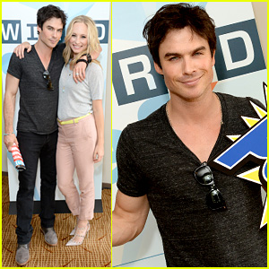 Ian Somerhalder: Comic-Con's Wired Cafe with Candice Accola!