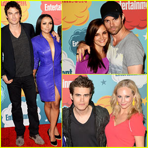 Ian Somerhalder & Daniel Gillies: 'Vampire Diaries' & 'Originals' at EW's Comic-Con Bash!