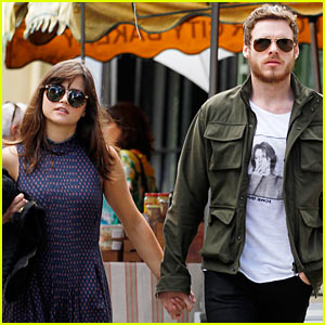 Richard Madden & Jenna Coleman Hold Hands in London