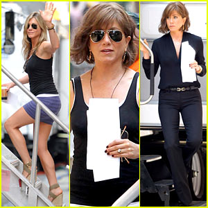 Jennifer Aniston Gets Into Wig & Costume for 'Squirrels...Nuts'!