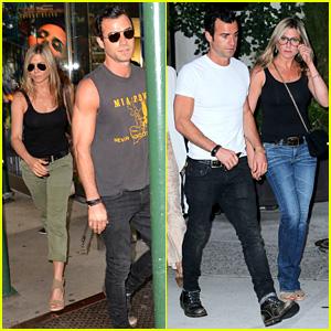 Jennifer Aniston & Justin Theroux: Dinner & Movie Date!