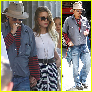 Johnny Depp & Amber Heard Hold Hands at Neues Museum!