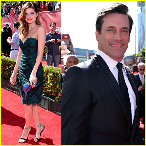 Jon Hamm - ESPYs 2013 Red Carpet with Lake Bell
