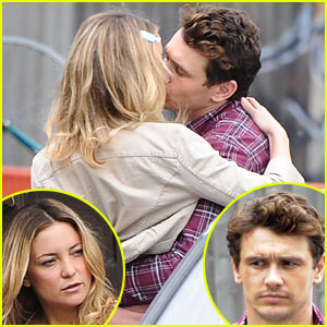 Kate Hudson & James Franco Kiss for 'Good People'