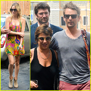 Kate Hudson & Matt Bellamy: Fan Friendly in Rome!