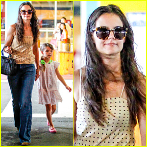 Katie Holmes Picks Suri Up from Gym Class