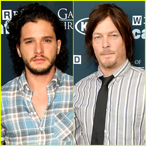 Kit Harington & Norman Reedus: Wired Cafe at Comic-Con!