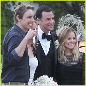 Kristen Bell & Dax Shepard: Jimmy Kimmel & Molly McNearney Wedding Pic!