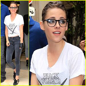 Kristen Stewart Rocks Specs After Chanel Fashion Show!