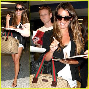 Lea Michele: LAX Arrival After Bikini-Clad Vacation!