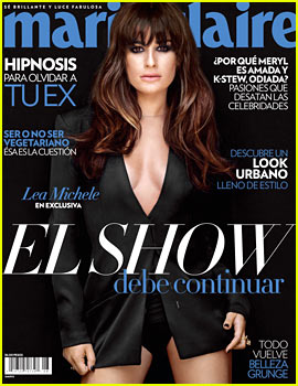 Lea Michele Talks Cory Monteith to 'Marie Claire Mexico' Before His Death