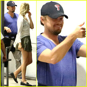 Leonardo DiCaprio: Thumbs Up After Dinner with Toni Garnn
