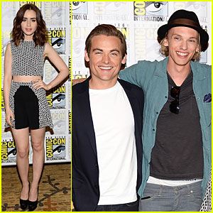 Lily Collins & Jamie Campbell Bower: 'City of Bones' at Comic-Con!