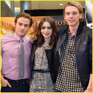 Lily Collins & Jamie Campbell Bower: 'Mortal Instruments' Meet & Greet!