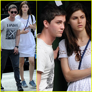 Logan Lerman & Alexandra Daddario Sightsee in I