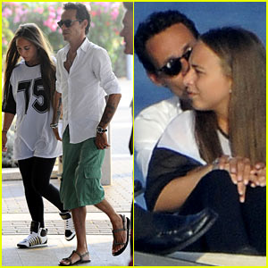 Marc Anthony & Chloe Green Cuddle on a Yacht